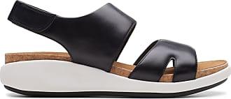 Clarks Womens Sandal Black Leather Clarks Un Bali Sling Size 7.5