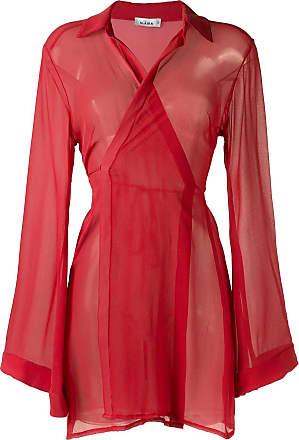 Amir Slama sheer panel dress - Red