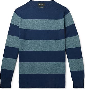 8d719011e2879c Howlin Striped Wool And Cotton-blend Sweater - Blue