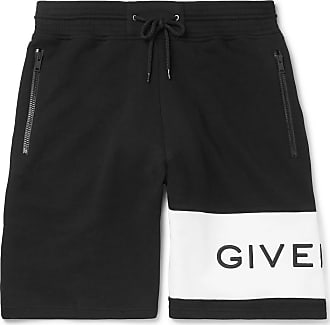 Givenchy Logo-embroidered Loopback Cotton-jersey Drawstring Shorts - Black