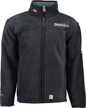 Geographical Norway Ureka Mens Fleece Jacket, Warm, Teddy Fur Lining, Size S - XXXL. - Blue - XXX-Large