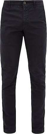 Incotex Slim-fit Cotton-blend Chino Trousers - Mens - Navy