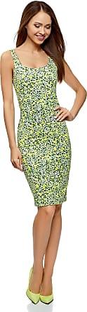 oodji Womens Jersey Cami Dress, Green, UK 4 / EU 34 / XXS