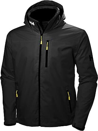 Helly Hansen Mens Crew Hooded Jacke Jacket, Black, Xx-Large