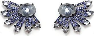 Vivid Brinco Vivid Ear Cuff Raios Azul Semi Joia