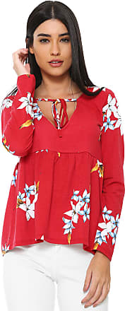 Nolita Lace Blusa Nolita Estampada Vermelha