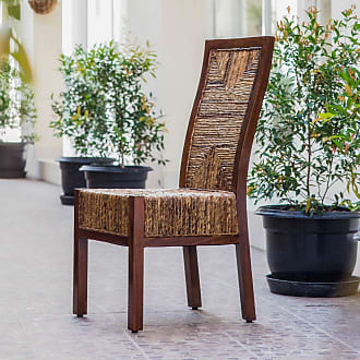 International Caravan Inc Dallas Abaca Mahogany Dining Chair (Brown - Parson Chairs/Side Chairs)