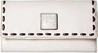 Dooney & Bourke Florentine Checkbook Organizer (Ecru/Ecru Trim) Checkbook Wallet