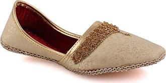 Unze Unze Mens JAX Adorned Leather Flat Indian Wedding Eid Formal Khussa UK Size 6-11 - UN-31