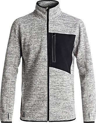 Quiksilver Raven - Zip-Up Technical Fleece for Men - Men Grey Heather