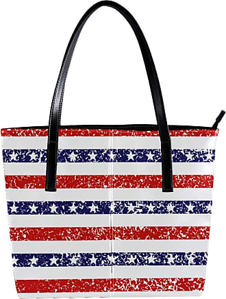 Nananma Womens Bag Shoulder Tote handbag with 4Th Of July Stars And Stripes Grunge Background Pattern Zipper Purse PU Leather Top-handle Zip Bags