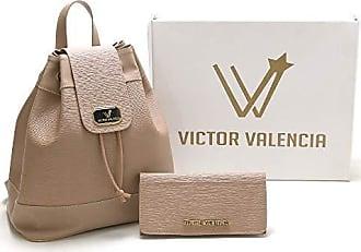 Victor Valência Kit Mochila + Carteira Feminina Victor Valencia
