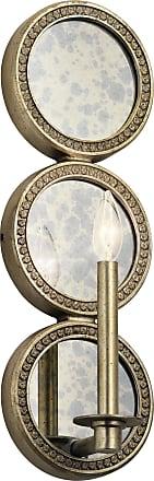 Kichler Rosalie Wall Sconce 1 Light in Sterling Gold
