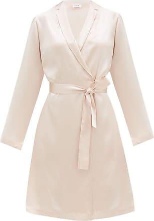 La Perla Belted Short Silk Robe - Womens - Light Pink