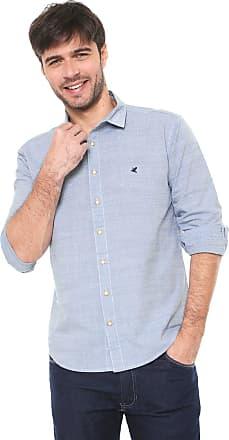 Malwee Camisa Malwee Slim Padronagem Azul