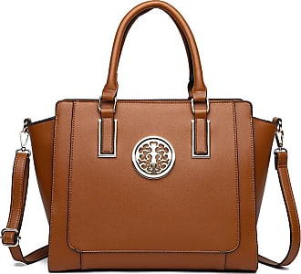 LeahWard Large Size Tote Bags For Women Nice Faux Leather Shoulder Bag Handbags For School Office Holiday 00349 (TAN)