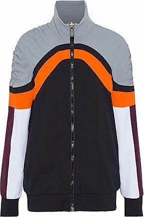 No Ka'Oi No Ka oi Woman Nola Ruched Color-block Scuba Jacket Black Size 00