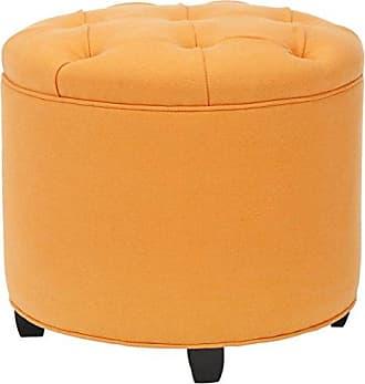 Safavieh Mercer Collection Wendy Tufted Ottoman, Orange