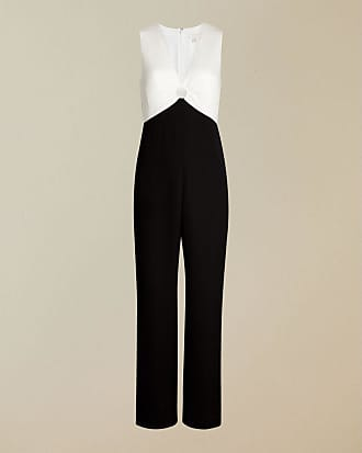 Ted Baker Ring Detail Wide Leg Jumpsuit in Black MITILDA, Womens Clothing