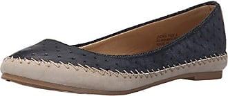 Groove Footwear Womens Jackie Ballet Flat, Blue, 6 M US