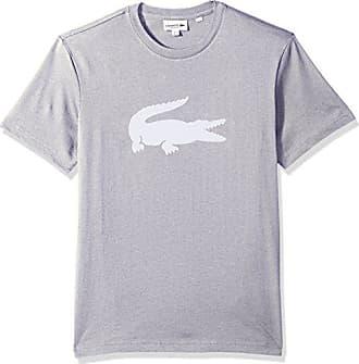 87f7d79a Lacoste Mens Crew Neck Oversized Crocodile Cotton Jersey T-Shirt, Silver  Chine/White
