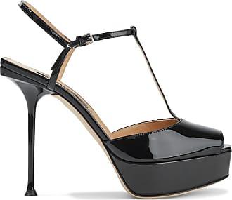 Sergio Rossi Sergio Rossi Woman Sr Milano Patent-leather Platform Sandals Black Size 38.5