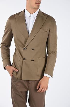 Corneliani ID peak lapel patch pocket double-breasted blazer size 50