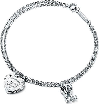 Tiffany & Co. Return to Tiffany Love heart tag key bracelet in sterling silver, medium