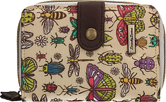 Swankyswans Borella Butterfly Bugs & Dragonfly Animal Print Bi-fold Wallet Beige