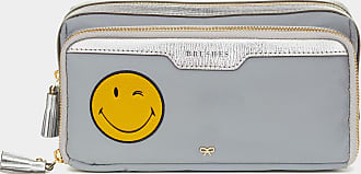 Anya Hindmarch Wink Small Make-Up Pouch Reflective Nylon in Grey