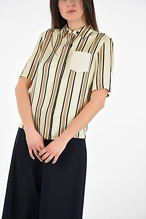 Drome Striped Short Sleeved Blouse size Xs