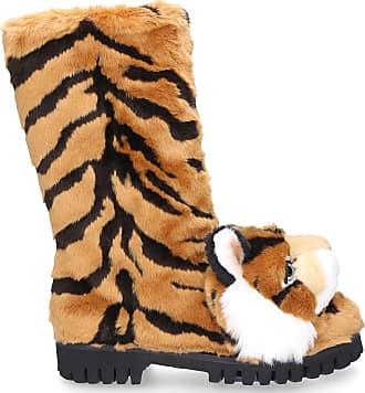Dolce & Gabbana Boots BIKER HUMMER fur brown-combo