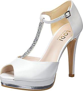 75a3814b Lodi Pauli, Zapatos con Tacon y Tira Vertical para Mujer, Beige (Galaxia  Avorio