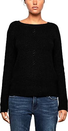 Q/S designed by - s.Oliver Womens 41.809.61.2511 Jumper, Black (Black 9999), M