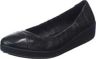 e0ba3c5f4588f FitFlop Womens F-Pop Ballerina Leather Ballet Flats Black