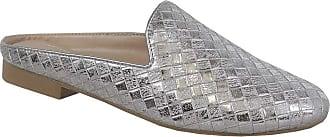 Yoki Womens ALEXA-04 Flat Sandal, Silver, 6.5 UK