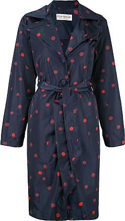 être cécile Polka Dot trench coat - Blue