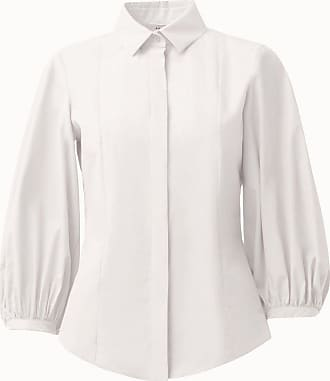 Akris Puff Sleeve Cotton Button-Down