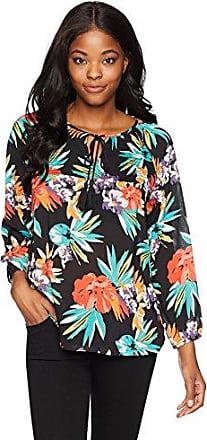 Margaritaville Womens Minature Floral Peasant Blouse
