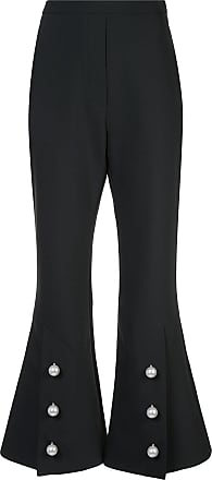 f6629672f92b Ellery buttoned slit flared trousers - Black