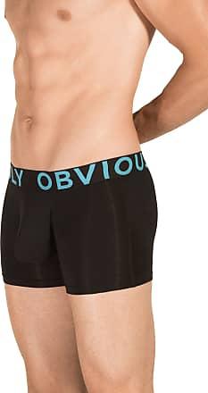 Obviously Mens EveryMan AnatoMAX Boxer Brief 3inch Leg - Black - Extra Large