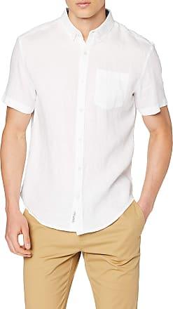 Original Penguin Original Penguin Mens Linen Regular Fit Casual Shirt, White (Bright White ), XX-Large