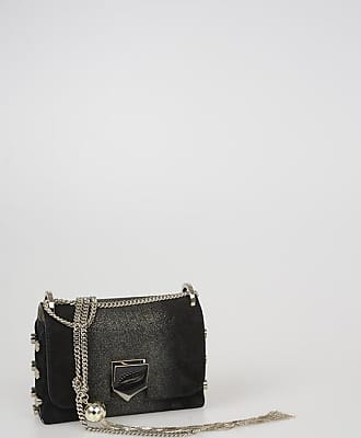 Jimmy Choo London Mini Bag LOCKETT in Suede Glitterato taglia Unica