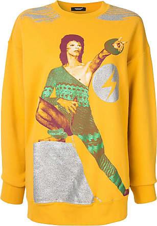 Undercover Moletom com estampa Bowie - Amarelo
