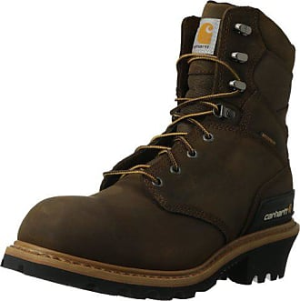 Carhartt Work in Progress Mens 8 Waterproof Breathable Soft Toe Logger Boot CML8160, Crazy Horse Brown, 10.5 M US