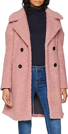 Only Womens Onlpaloma Boucle Long Wool Coat OTW, Pink (Baroque Rose Baroque Rose), 12 (Size: Medium)
