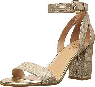 Franco Sarto Womens Malibu Heeled Sandal, Platinum, 7 Medium US