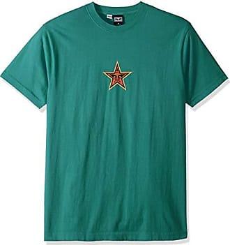 Obey Mens Star FACE Heavyweight Box Tshirt, Emerald, Large