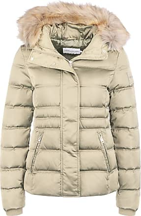 Calvin Klein Jeans J20J211541 Short Down Jacket and Jackets Women Sand M