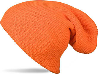 styleBREAKER Beanie, Slouch, Long Knitted hat, Double Knitted 04024004, Color:Orange